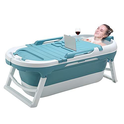 55inch Portable Bathtub for Adults Children and Baby,Uniex Foldable Bathtub Simple Bath Tub Home SPA Bathtub,Easy to Store Plastic Bath Barrel Household Insulation