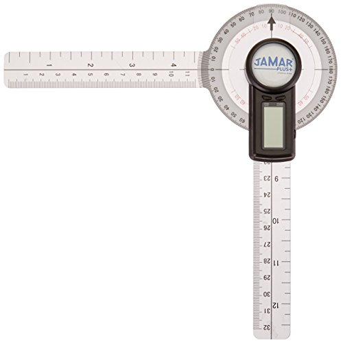 12 Orthopedic Professional Grade Digital Hand and Finger Range of Motion Tool for Accurate Angle Measuring Protractor for Inch /& Centimeter Linear Measurement 12 Patterson Medical Holdings Inc 70521 Jamar Plus+ Digital Goniometer