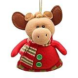 Cyhulu Christmas Cloth Hanging Ornaments, Kawaii Cartoon Santa Claus Elk Snowflake Doll Xmas Tree Pendant for Kids Toy, Holiday, Party Weeding Favors Decor (C, One size)