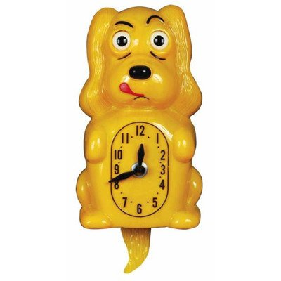 12' Cuckoo Clock (Animated Clocks Pooch Clocker Spaniel Yellow Wall Clock)