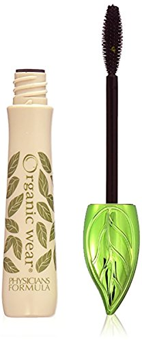 Physicians Formula Organic Wear 100% Natural Origin Mascara, Black Organics, 0.26 Ounce (Ecco Bella Black Mascara)