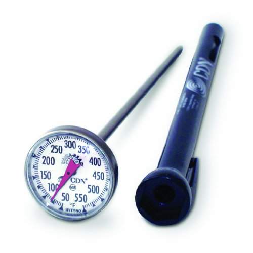 CDN IRT550 ProAccurate Insta-Read High Temperature Cooking Thermometer, 50 Degree F to 550 Degree F, 5