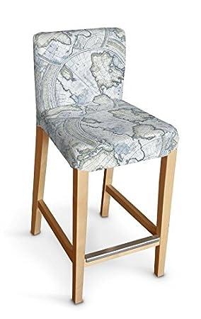 Dekoria IKEA HENRIKSDAL taburete de Bar, - mapa del mundo ...