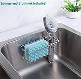 KESOL Adhesive Sponge Holder + Brush Holder, 2-in-1
