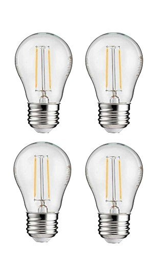 Philips LED A15 Non-Dimmable 110-Lumen, 2000-Kelvin, 2-Watt (25-Watt Equivalent) Vintage Filament Light Bulb with E26 Medium Base, Soft White, - Equivalent Watt 25 Medium Base