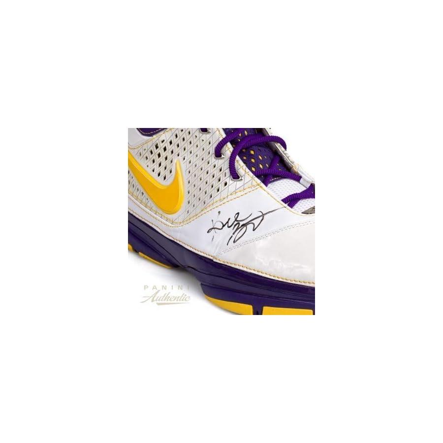 Kobe Bryant Autographed Signed Nike Zoom Kobe 2 Shoe Panini