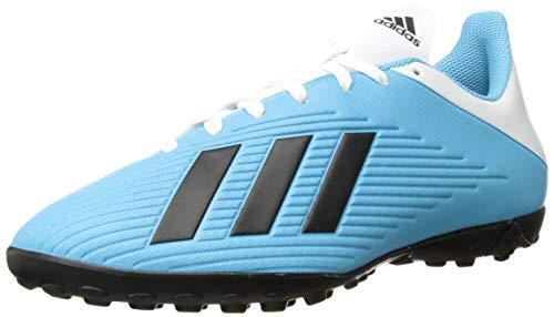 adidas Men's X 19.4 Turf Soccer Shoe, Bright Cyan/Black/Shock Pink, 10.5 M US
