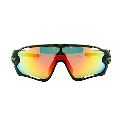 EnzoDate Gafas de Ciclismo fotocrómicos polarizado 4/5 Lentes Kit de Bicicleta Gafas de Sol (Azul Blanco, 5L)