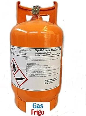Bombona gas refrigerante R600 R600 A 5 kg Carga congelar nevera ...