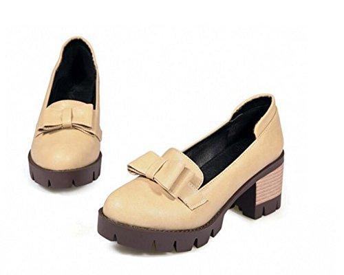 Zapatos Gray la los Superficial pie Cerrado XIE Cómodos del 37 de arquean APRICOT Mujer 39 la Baja Dedo Zapatos Zapatos Boca de los de EwfHfqvR