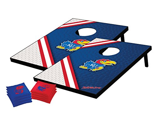 - NCAA College Kansas Jayhawks Tailgate Toss Bean Bag Game Set, 36