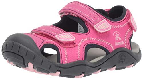Kamik Girls' SEATURTLE2 Sandal, Pink, 1 M US Little Kid
