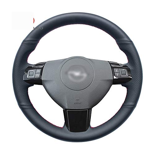 ZHOUMOFXP Black Artificial Leather DIY Car Steering Wheel Cover,for Opel Astra 2005-2010 Zaflra 2005-2010 Vectra Vauxhall Astra ()