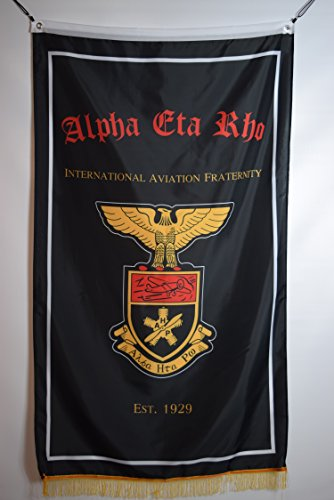 Alpha Eta Rho Professional Co-ed Aviation Fraternity College Officially Licensed Banner 3x5