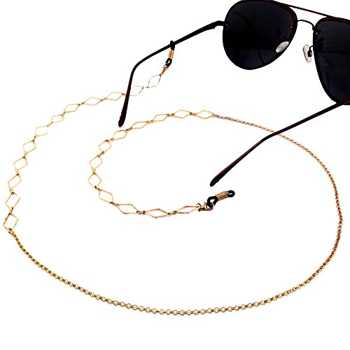 Ababalaya Vintage Strap Anti-Skid Eyeglass Cord Metal Sunglasses Thin - Sunglasses Trap