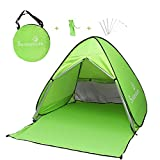 Sunba Youth Beach Tent, Beach Shade, Anti UV Baby Beach Tent, Portable Instant Sun Shelter, for 2-3 Person Camping& Travel (Fluorescent Green)