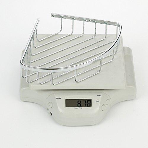 Corner Basket Shelves by MAMOLUX ACC| Solid Brass Shower Basket Shelf Tidy Rack Caddy Storage Organizer Chrome Finish|Space Saving Toiletries/Cosmetics Holder by Marmolux Acc (Image #4)