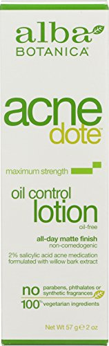 Alba Botanica Acnedote, Oil Control Lotion, 2 Ounce (Moisturizer Oil Free Control Oil)