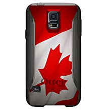 CUSTOM Black OtterBox Commuter Series Case for Samsung Galaxy S5 - Red White Canadian Flag Canada