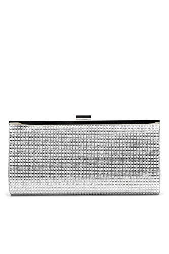 Women Clutch Purse Wallet Crystal Evening Bag Glitter Handbag With Chain Strap (silver)
