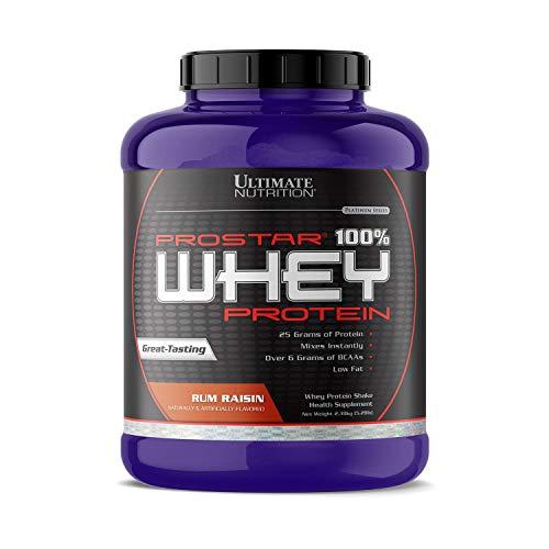 Ultimate Nutrition Prostar 100% Whey Protein – 5.28 lbs (Rum Raisin)