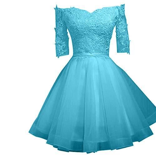 Rosa Braut Spitze Brautjungfernkleider Rock Suessig Mini Abendkleider Marie La Blau Cocktailkleider BC5nwtt