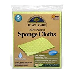 Iyc Sponge Cloths 100% Na Size 5ct Sponge Cloths 100% Natural - Ifyc 5ct