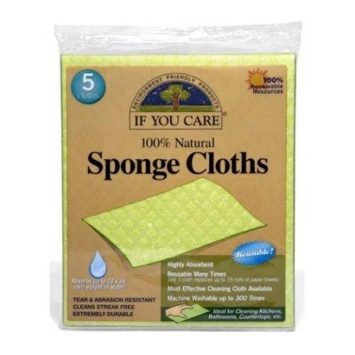 If You Care 100 Percent Natural Sponge Cloth - 5 per pack - 12 packs per case.…