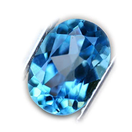 Lovemom 1.50ct Natural Oval Swiss Blue Topaz Brazil #W