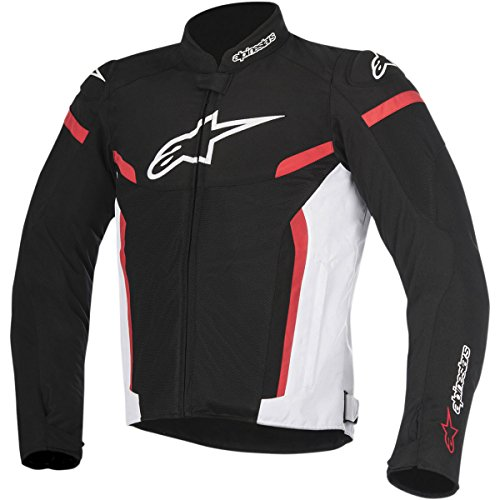Alpinestars T-GP Plus R Air V2 Men's Street Motorcycle Jackets - Black/White/Red / 3X-Large