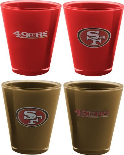 NFL San Francisco 49ers 4-Pack Acrylic Team Color Acrylic Shot Set - San Francisco 49ers Shot Glass