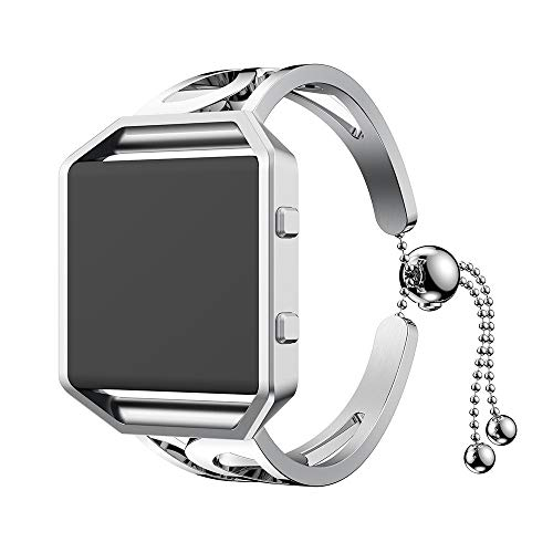 Amazon.com: Luxurious Fashion Bracelet Replacement Girls Watch Band Strap for Fitbit Blaze Silver: Clothing