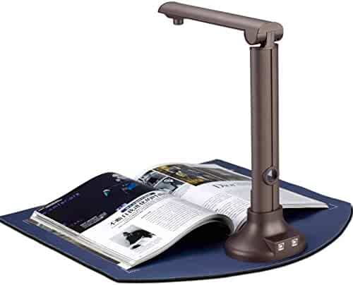 DINGYI Digital Portable Document Camera Scanner, Professional 8 MegaPixel Resolution,Design for Library, School and Company.Perfect for Bound Documents & Books, Smart OCR for Windows