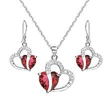 EleQueen 925 Sterling Silver Full Cubic Zirconia A Heart Full of Eternal Love Bridal Jewellery
