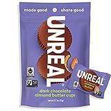 UNREAL Dark Chocolate Almond Butter Cups   Vegan, Gluten Free, Less Sugar   3 Bags -  AmazonUs/UNXA0