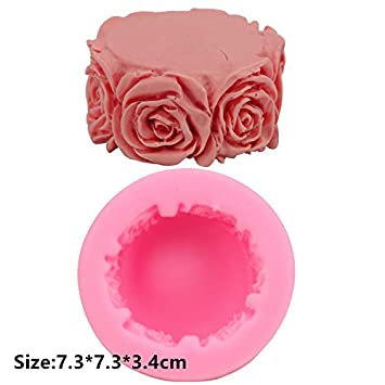 Flores columna - Molde de silicona Fondant Azúcar Jabón Chocolate herramienta de decoración: Amazon.es: Hogar