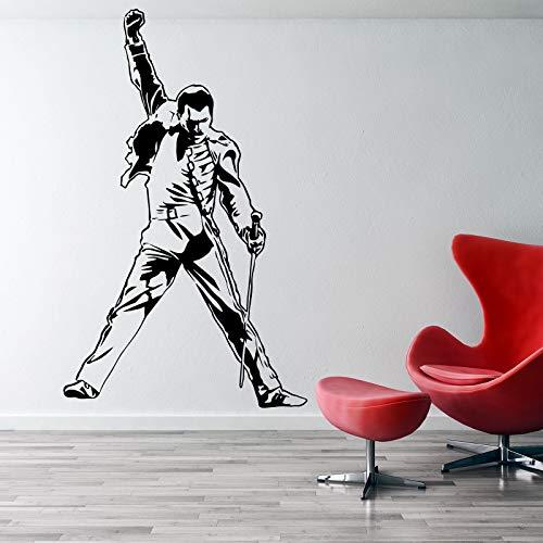 Freddie Mercury Wall Decal Metal Rock Music Characters Deal Queen Band Super Star Freddie Mercury Wall Sticker Vinyl Art Mural Music Theme Made in USA
