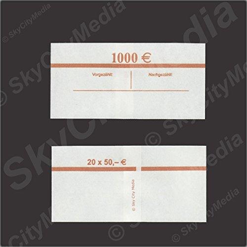 Fascette per banconote euro Je 50X (50& # x20AC; fascetta) Denaro fascetta di carta per denaro buendel capacità Je 20banconote SkyCityMedia