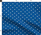 Spoonflower Baseball Fabric - Dodgers Polka Dots Sfaut15 Print on Fabric by The Yard - Fleece for Sewing Blankets Loungewear and No-Sew Projects