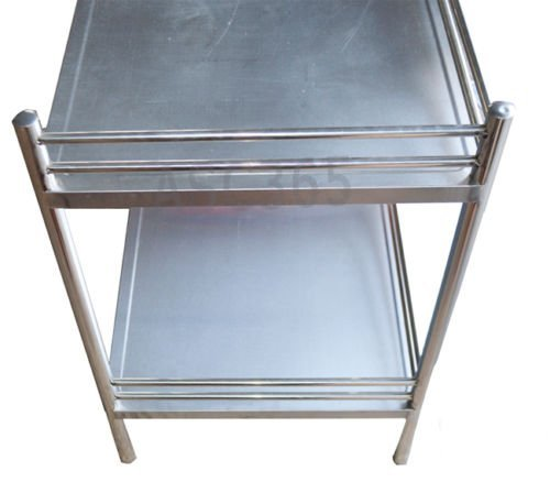 Stainless Steel Cart Tool With Bucket Double Layer