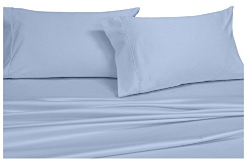 Royal 450 Thread Count Pillowcases Set, 100% Cotton, Sateen, Pair Pillowcases (2pc), (Standard Ivory) ()