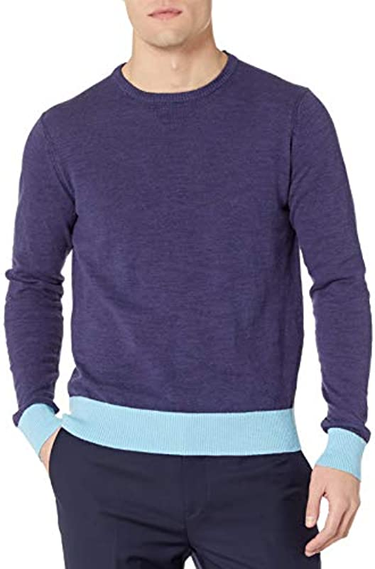 Michael Bastian Męskie Cotton/Linen Slub Crewneck Sweater Pullover: Odzież