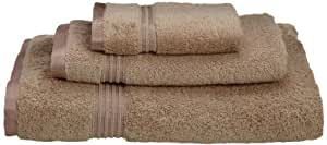 Luxury Spa Collection - 3 Piece Towel Set - 100% Genuine Egyptian Cotton, BEIGE