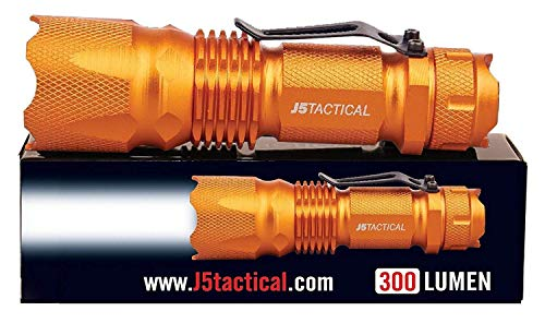 J5 Tactical J5 V1 Pro Hunter Orange Tactical Flashlight...