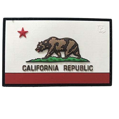 California Republic State Bear Patch 3D drapeau californie