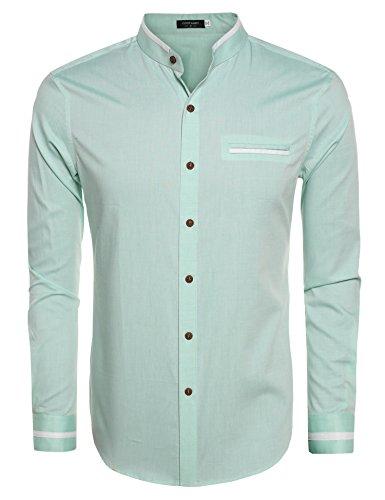 Green Button Down Collar - 3