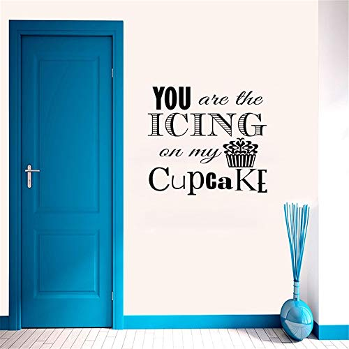 handas Quote Mirror Decal Quotes Vinyl Wall Decals You are The Icing for Living Room Home Decoration