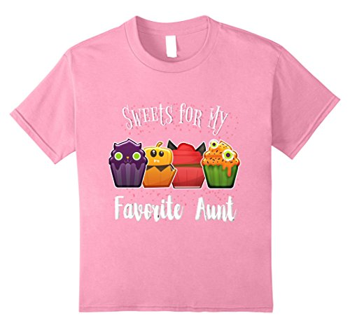 Kids Cute Cupcake Halloween Tshirt for Favorite Aunt 12 (Cup Cake Halloween)