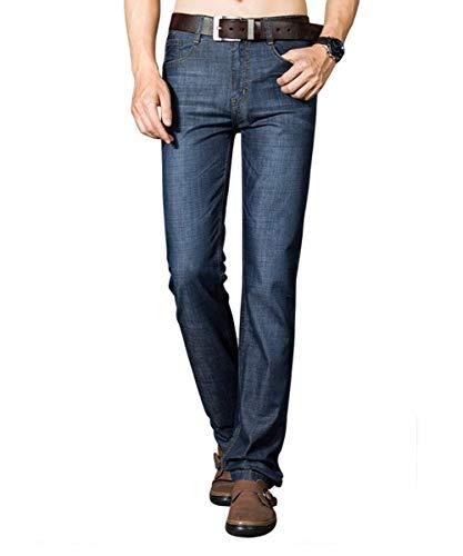 Taper Moda Dritta Jeans Da Uomo A Dunkelblau Fit Slim Battercake Casual Pantaloni Comodo Regular Vintage Gamba fw8q7BqI