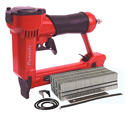 Pneumatic Staple Gun Kit, KT-50 Type 1/2″ Wide Crown Air Stapler, 21 Gauge, 1/4-Inch to 5/8-Inch, with 3000 staples and spare parts